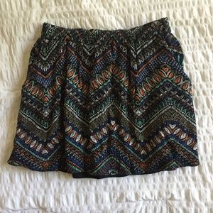 Lily White Printed Skirt